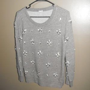 J Crew Chandelier Embellished Sweatshirt